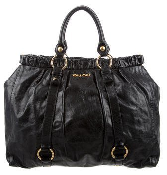 Miu Miu Miu Miu Vitello Lux Shopper