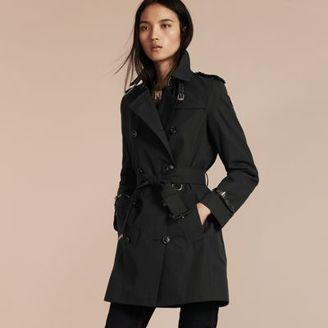 Burberry Leather Detail Cotton Gabardine Trench Coat $2,195 thestylecure.com