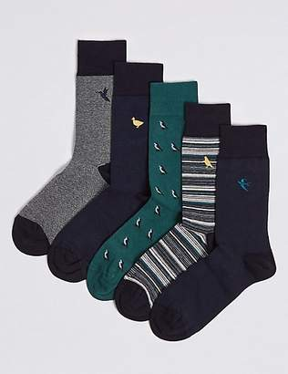 M&S Collection 5 Pack Cotton Rich Cool & FreshfeetTM Socks