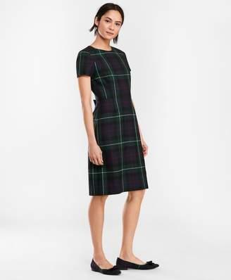 Brooks Brothers Tartan Wool Twill A-Line Dress