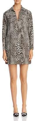 Badgley Mischka Leopard Print Shirt Dress - 100% Exclusive