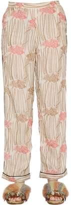 Sanchita Hand Embroidered Silk Georgette Pants