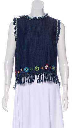 Love Sam Embroidered Sleeveless Blouse w/ Tags