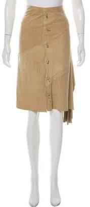 Henry Beguelin Leather Midi Skirt