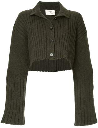 Ports 1961 ribbed cropped cardigan