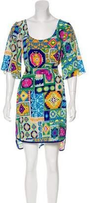 Trina Turk Short Sleeve Mini Dress