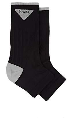 Prada Women's Compact Knit Open-Toe Socks