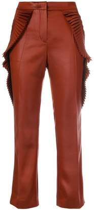 Marco De Vincenzo pleated-trim cropped trousers