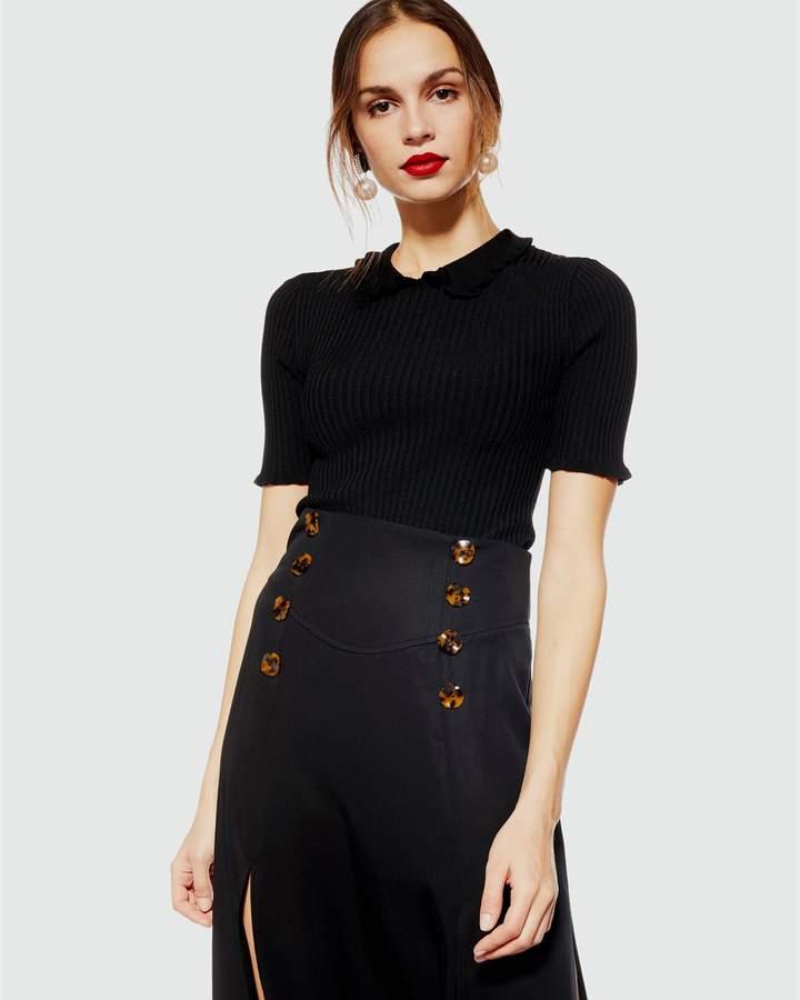 Tencel Splice Midi Skirt