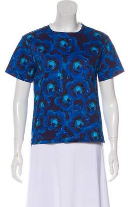Peter Som Printed Short Sleeve Top