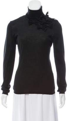 Valentino Long Sleeve Knit Turtleneck