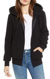 Andrew Marc Teddy Fleece Zip Jacket