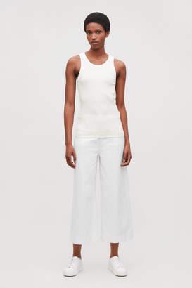 Cos RIBBED JERSEY VEST TOP