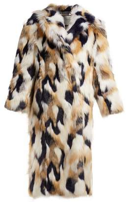 Givenchy Faux Fur Coat - Womens - Multi