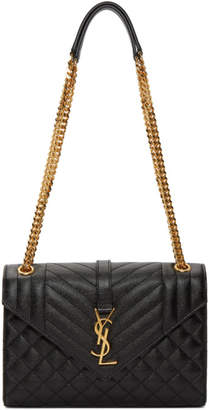 Saint Laurent Black Medium Envelope Chain Bag