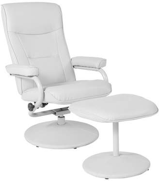 Flash Furniture Contemporary Vinyl Swivel Recliner and Ottoman, Multiple Colors