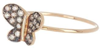 Suzanne Kalan 14K Yellow Gold Butterfly Ring - Size 6.5
