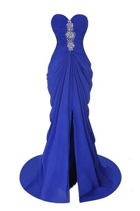 D.W.U Chiffon Long Ruffled Formal Party Evening Dresses for Bridal Gowns US 20W