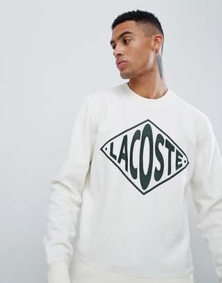 3f22870970a7f Lacoste Live L!VE unisex borg logo sweat in off white