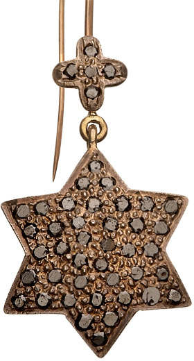 Hari Jewels Star and Diamond Earrings