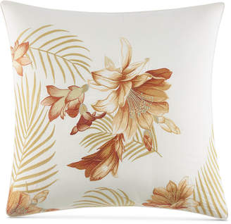 "Tommy Bahama Home Loredo Gardens Cotton Medium Orange 20"" Square Decorative Pillow Bedding"
