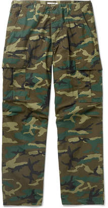 orSlow Camouflage-Print Cotton-Ripstop Cargo Trousers