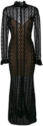 Ermanno Scervino sheer fitted maxi dress
