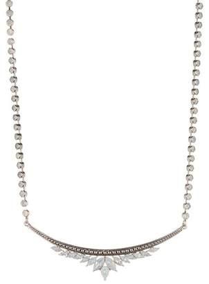 Jenny Packham Stone Cluster Bar Pendant Necklace