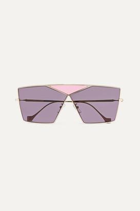 Loewe Puzzle Large Aviator-style Gold-tone Sunglasses - Purple