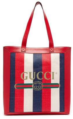 Gucci Striped Large Tote Bag - Mens - Navy Multi