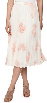 Reiss Aya Print Pleated Skirt