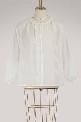 Vanessa Bruno Ira cotton and linen top