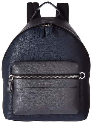 Salvatore Ferragamo Firenze Color Block Backpack Backpack Bags