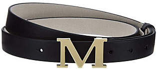 C. Wonder Initial Buckle Adjustable Leather TopHip Belt
