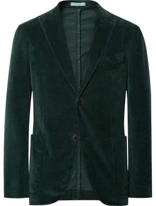 ... Boglioli Dark-Green Slim-Fit Stretch-Cotton Corduroy Suit Jacket