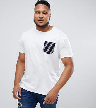Brave Soul PLUS Stripe Pocket T-Shirt