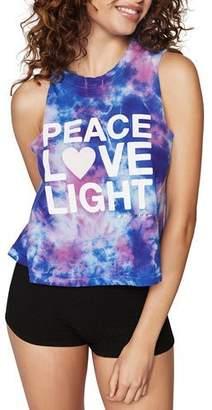 Spiritual Gangster Peace Tie-Dye Cropped Tank
