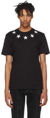 Givenchy Black Vintage Stars T-Shirt