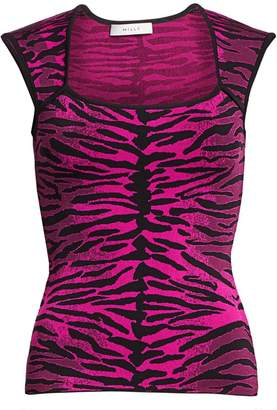 Milly Tiger Bodycon Top