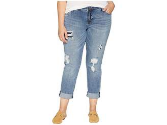 KUT from the Kloth Plus Size Catherine Boyfriend Cut Out Back Pocket Jeans in Excellent