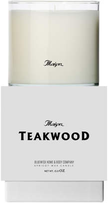 Bluewick Home & Body Co. Maison Collection Teakwood 15Oz Candle