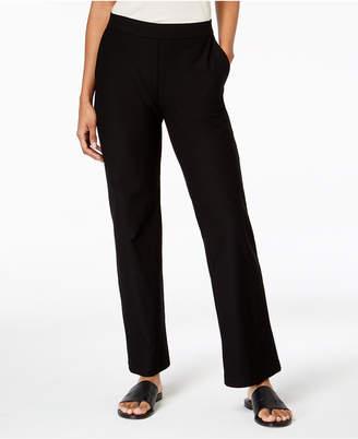 Eileen Fisher Washable Crepe Straight-Leg Pants, Regular & Petite