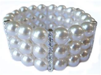 Cezanne 3 Row Stretch Pearl Bracelet