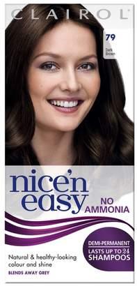 Clairol Nice'n Easy Nice'n easy No Ammonia Semi - Permanent Hair Dye 79 Dark Brown
