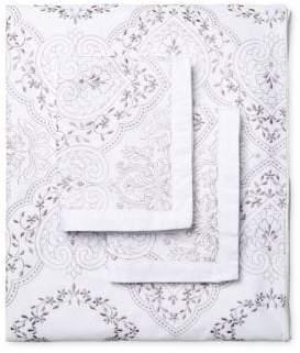 Melange Home Brocade Embroidered Duvet Set