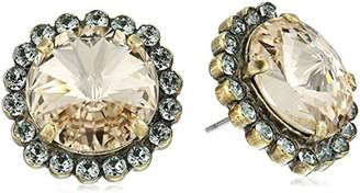 Sorrelli Women's Washed Waterfront Halo Crystal Stud Earrings