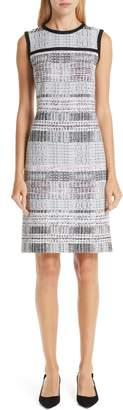 St. John Bianca Plaid Knit Sheath Dress