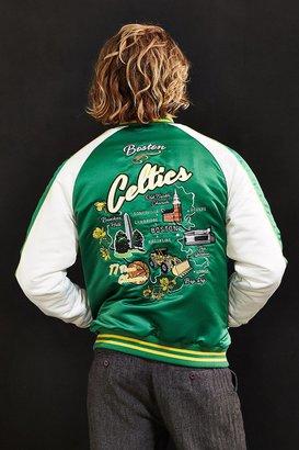 Starter X UO NBA Boston Celtics Souvenir Jacket $149 thestylecure.com