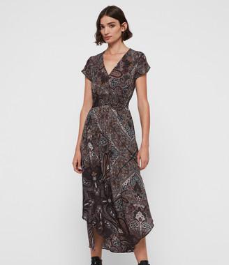 AllSaints Leila Scarf Dress