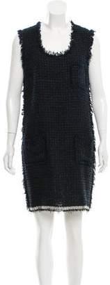 Lanvin Sleeveless Tweed Dress